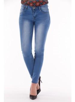 Jeans cu talie medie skinny fit