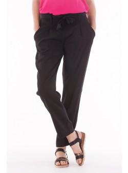 Pantaloni casual cu snur in talie