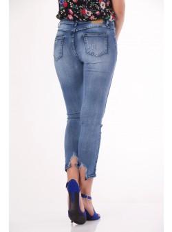 Jeans slim fit cu talie medie