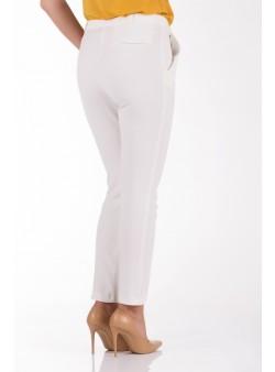 Pantaloni casual albi