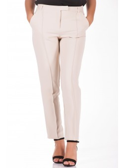 Pantaloni conici ivory
