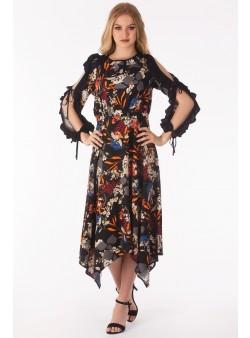 Rochie in colturi cu imprimeu floral