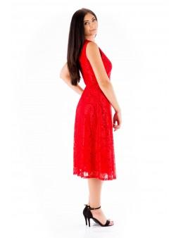 Rochie roșie midi de seară