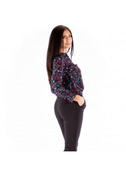 Bluză multicoloră cu mânecă lungă