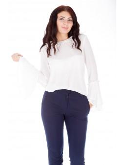 Bluză albă elegantă