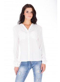 Bluză albă studențească