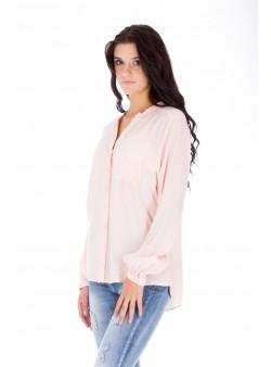 Bluză roz pudră studențească
