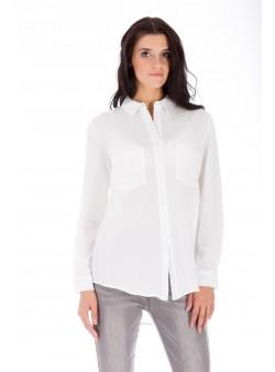 Bluză albă clasică