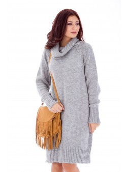 Rochie tip pulover din tricot