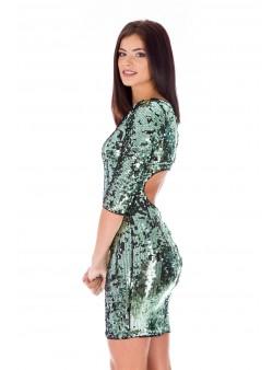 Rochie verde cu paiete de revelion