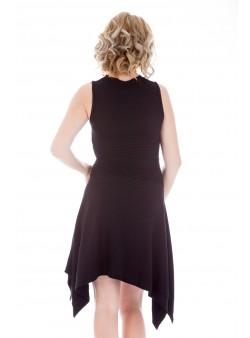 Rochie neagra din tricot