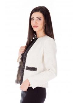Jachetă albă scurtă office