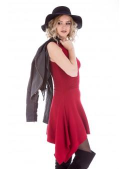 Rochie din tricot asimetrica