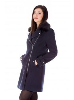 Palton bleumarin elegant