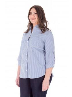 Bluză albastră cu dungi 3/4 (trei sferturi)