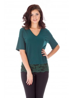 Bluză verde de zi