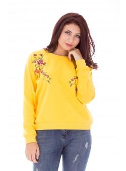 Bluza cu broderie florala