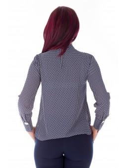 Bluza casual cu bleumarin print