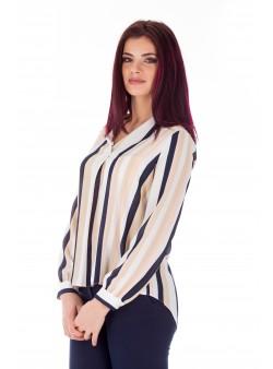 Bluza retro cu print maro