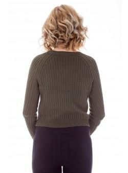Pulover scurt tricotat