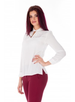 Bluza alba cu design modern