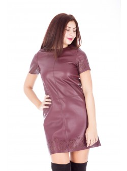 Rochie mini din piele ecologica