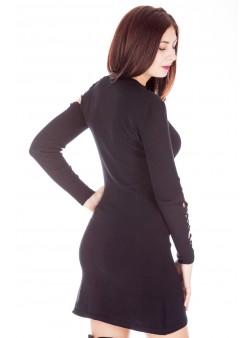 Rochie-pulover cu decupaje