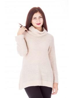 Pulover din tricot cu guler inalt