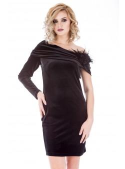 Rochie neagra din catifea