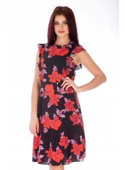 Rochie de zi clos rosu print