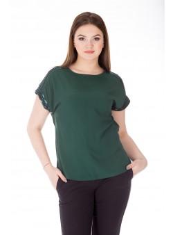 Bluza verde smaralad eleganta cu paiete