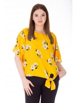 Bluza cu print floral multicolor stil kimono