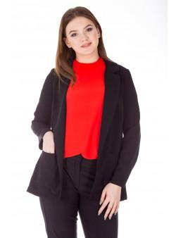 Cardigan negru stil sacou