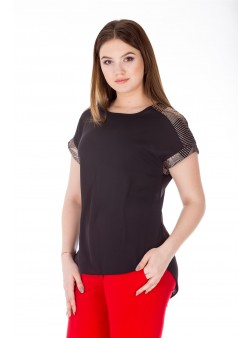 Bluza neagra eleganta cu paiete