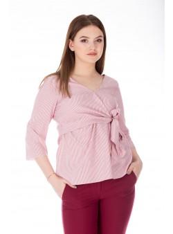 Bluza cu print alb-rosu
