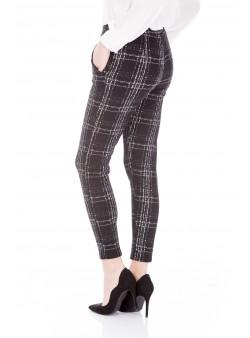 Pantalon casual cu imprimeu