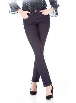 Jeans uni cu croiala dreapta