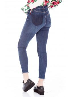 Jeans skinny cu margine destramata