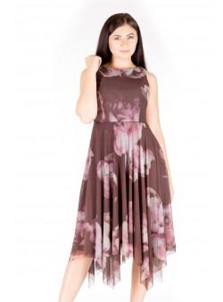 Rochie cu imprimeu in colturi