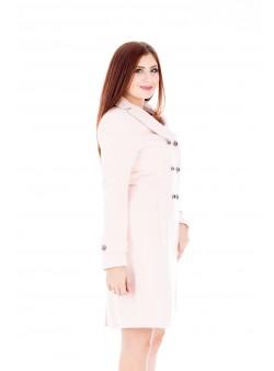 Palton roz  cambrat