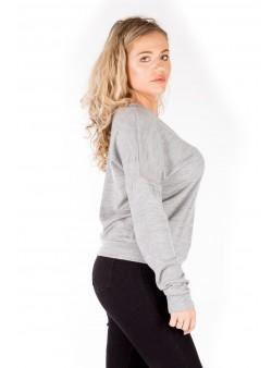 Pulover gri din tricot