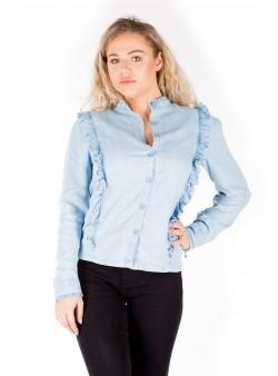 Bluza din material stil blug
