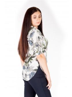 Bluza din vascoza cu model floral