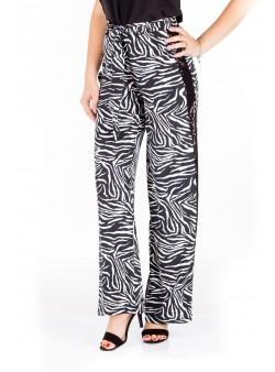Pantaloni cu vipusca din paiete
