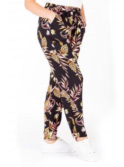 Pantaloni cu imprimeu multicolor