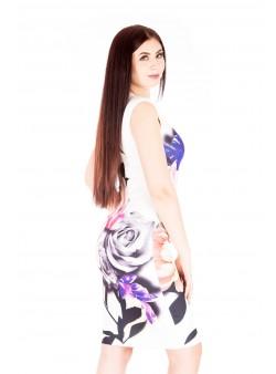 Rochie midi cu imprimeu vesel