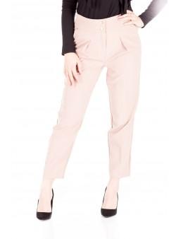 Pantaloni conici roz pudra