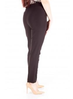Pantaloni cu talie inalta capse decorative