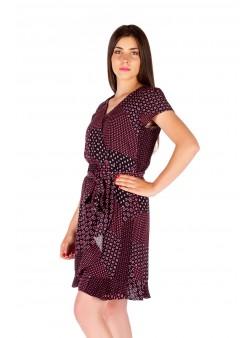 Rochie din viscoza cu print vesel
