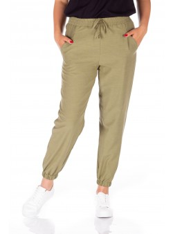Pantaloni kaki din viscoza